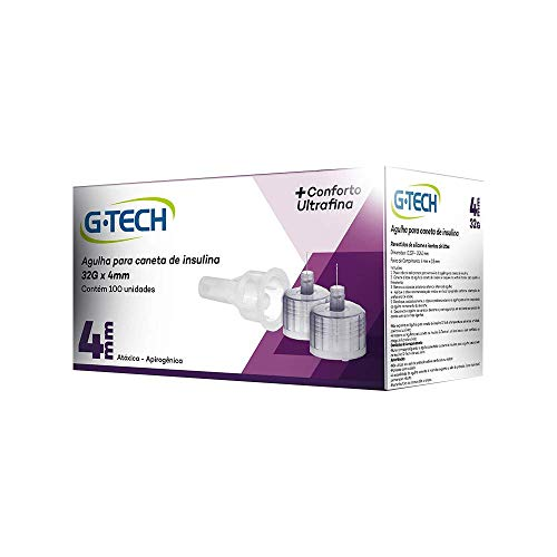 Agulha para caneta de insulina G-TECH 4mm 32G Caixa com 100