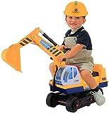 Smibie Escavatore Giocattolo Cavalcabile con Sedile per Giocare con la Sabbia con 2 Artigli Lunghi Sulla Spiaggia in colore Giallo per bambini (con 2 artigli da sostituire)