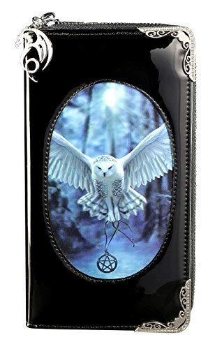 Gothic Geldbörse mit 3D Motiv groß | Awaken Your Magic by Anne Stokes | Eule Fantasy Geldbeutel Portemonnaie Lack