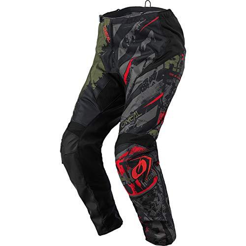O'NEAL | Motocross-Hose | MX Mountainbike | Passform für Maximale Bewegungsfreiheit, Leichtes, Atmungsaktives und langlebiges Design | Pants Element Ride | Erwachsene | Schwarz Grün | Größe 30/46