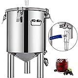 BuoQua Caldera de Fermentación 30L Fermentador de Cerveza Caldera de Maceración Fermentador de Vino Fermentador Cerveza Tanque de Maceración de Acero Inoxidable