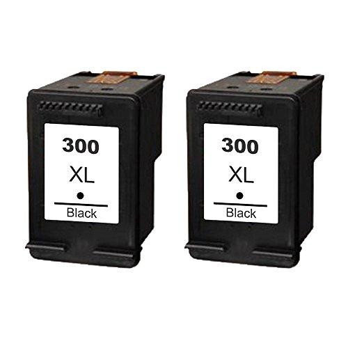 Set de 2ECS remanufacturados Negro Cartucho de tinta reemplazar 300X L para HP DeskJet impresora D1660D2560D2660D5560F2420F2423F2430F2476F2480F2483F2488F2492F2493F4210F4272F2492F4280F4580F4224Photosmart C4610C4635C4640C4650C4670C4673C4680C4683C4685C4688C4740C4780C4783C4785C4788C4793C4795C4798C4799