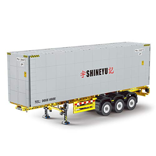 FADY Technik Bausteine Auto, LKW Truck Container Bauset Modell Kompatibel mit Lego Technic - 1631 Teile