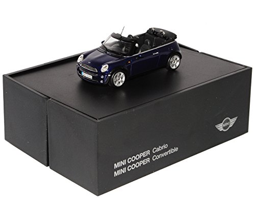 Minichamps Mini Cooper Cabrio Blau 2001-2006 i 1. Generation R52 1/43 Modell Auto Modellauto