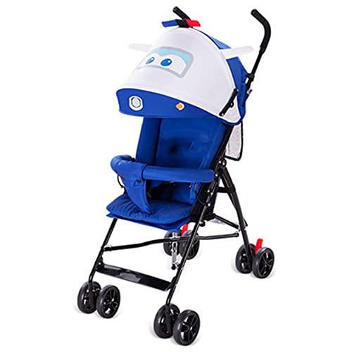 VIVIANSHOP Cochecito de Paraguas Plegables de Trolley Ultraligero del Cochecito para niños 6-36 Meses Cochecito de bebé Dark Blue
