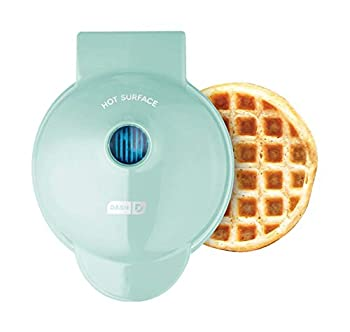 Dash DMW001AQ Mini Maker for Individual Waffles Hash Browns Keto Chaffles with Easy to Clean Non-Stick Surfaces 4 Inch Aqua