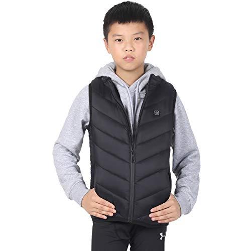 Elektrisch verwarmd vest voor kinderen, instelbare temperatuur gilet, verwarmd vest voor mannen en vrouwen, wasbare verwarmingskleding vest, USB, lichte elektrische verwarmingskleding