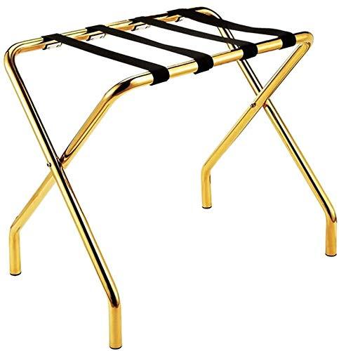 Hotelzimmer klappbaren Gepäckträger, Schlafzimmer Regale Edelstahl, Multi-Funktions-Reisetaschen Koffer,Gold