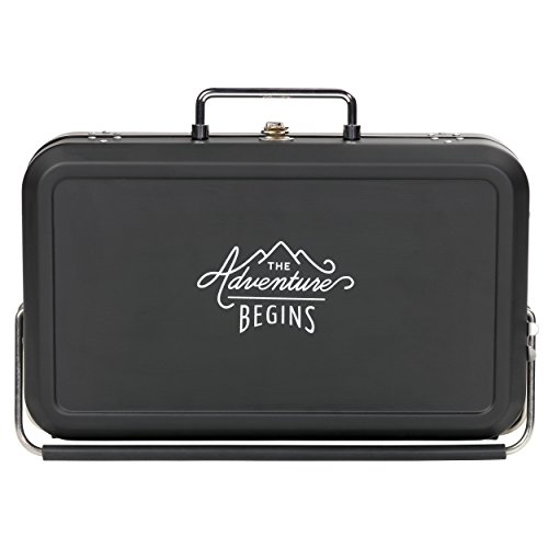 Gentleman's Hardware Small Suitcase Style BBQ Black