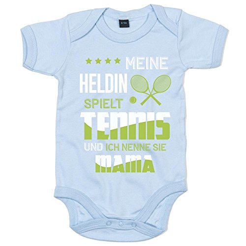 Tennis Premium Babybody Berufe Follow Your Dreams Traumberuf Mädchen Kurzarmbody, Farbe:Babyblau (Dusty Blue BZ10);Größe:6-12 Monate