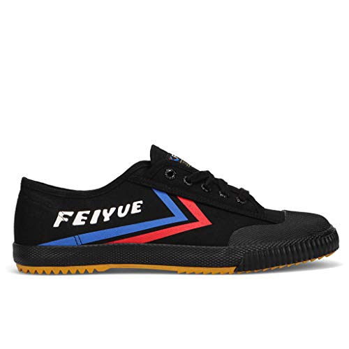 FEIYUE Mens Fe Lo 1920 Heritage Shoe | Black | Kung Fu Shoe | Martial Arts Shoe (Black, 8)
