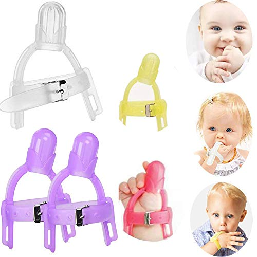 Thumb Sucking Stop - 2 Pack, Baby Thumb Sucking Finger Guard Children Nail Biting Prevention Treatment Kit for 1-5 Years Baby Kids, Color Random (2)
