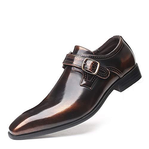 SAIPULIN gesp bruiloft kunstleer Low Heel spits Single Monk Strap anti-slip Firmal Oxfords voor mannen zakelijke schoenen