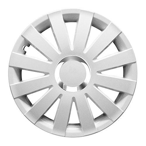 Eight Tec Handelsagentur (Farbe und Größe wählbar!) 15 Zoll Radkappen Onyx (Weiß) passend für Fast alle Fahrzeugtypen (universell) - vom Radkappen König