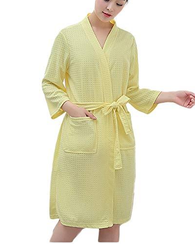 Crystallly Badjas voor dames en heren zachte ochtendjas met riem lang saunamantel pyjama eenvoudige stijl thuis reizen mode comfortabel pyjama