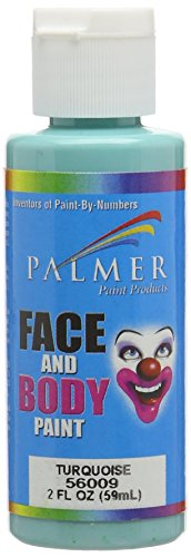 Palmer 56009-36 Face & Body Paint, 2 oz, Turquoise