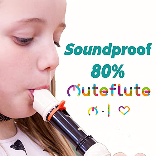MUTE/SOUNDPROOF FOR PLASTIC SOPRANO RECORDER INSTRUMENT, ADULTS AND KIDS (PACK 5 MUTEFLUTES)