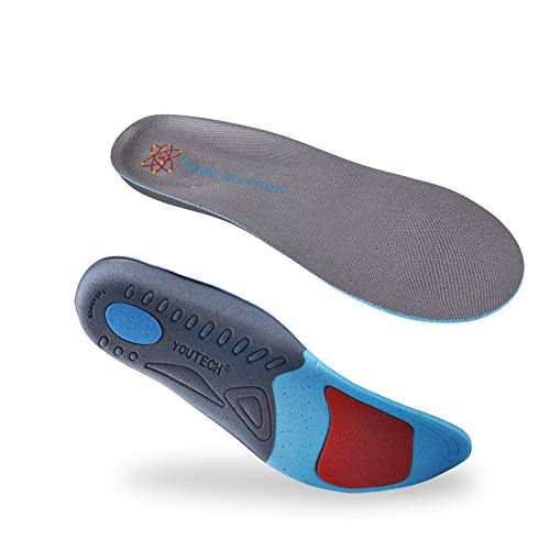 Shoe Insoles Support Insoles for Men and Women Easing Inserts,Flat Feet,Plantar Fasciitis, Heel Spurs, Foot Pain Shoe Inserts with Shock Absorption and Cushioning YOUKE (10-12 (11.18-12.2 inch))