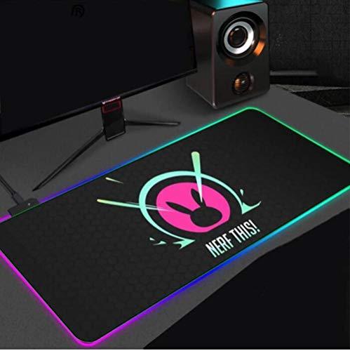 Tappetini per il Mouse Music DJ RGB Gaming Mouse Pad luminoso LED Tastiera del computer Pad Accessori da gioco Tappetino da scrivania PC Notebook Gamer XXL 1200x600x4 mm