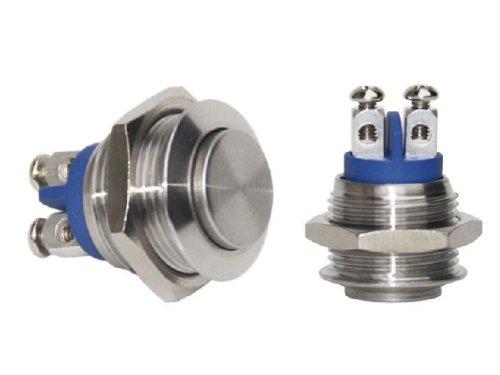Edelstahl 16mm Gewindedurchmesser V2A Klingeltaster Klingelknopf Klingel Taster Drücker Klingeldrücker 307