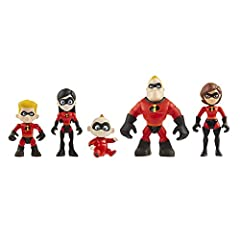 Welcome our Incredible Junior Supers Figures 5 pack Includes Elastigirl, Mr. Incredible, Violet, Dash, and Jack Jack Figures are poseable For use with Incredibles 2 Junior Hydroliner Playset (Sold Separately) Intended for kids ages 3+