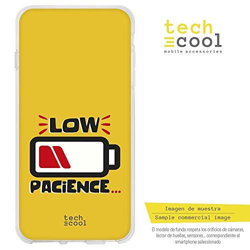Funnytech Cover Samsung Galaxy S6 Edge Custodia in Silicone (TPU) per Samsung Galaxy S6 Edge [Design Esclusivo, Stampa ad Alta Definizione] [Low Pacience Fondo Amarillo]