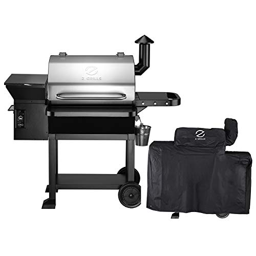 Fantastic Deal! Z GRILLS ZPG-10002E Wood Pellet Grill Smoker for Outdoor Cooking with Cover, 2020 Up...