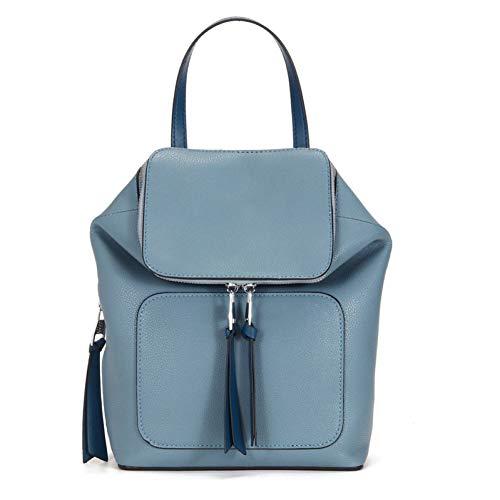 Yucong Mochila para Mujer - Bolso Mochila Mujer Cuero Genuino - Cuero Moda Bolsa de Viaje Casual - Antirrobo Escolares Mochila Portátil Bolso Mochila -(Azul)
