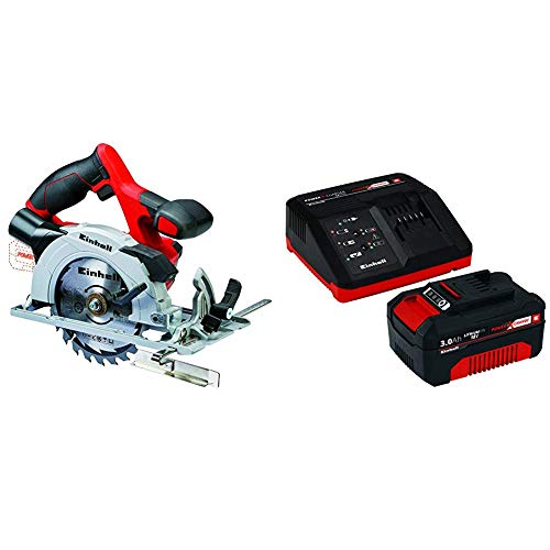 Einhell 4331200 Sierra Circular (4,200 min-1, no Incluye batería, Power-X-Change), 0 W,...