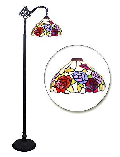 12 Pulgadas Rosa Mariposa Colorido Lujo Retro Atmósfera Sala de estar Sofá Mesa de estudio Estudio Dormitorio Lámpara de pie caliente del hogar