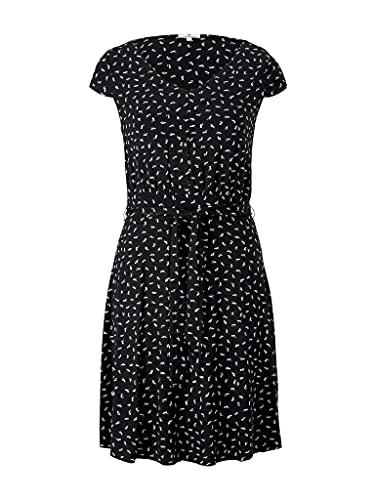 TOM TAILOR Damen 1026052 Basic Kleid, 26894-Black Geometrical Design, 42
