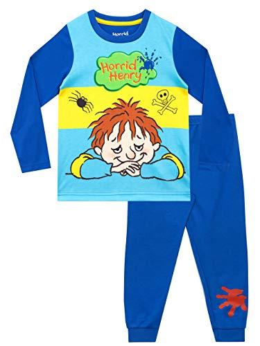 Horrid Henry Pijamas de Manga Longa para niños Azul 3-4 Años