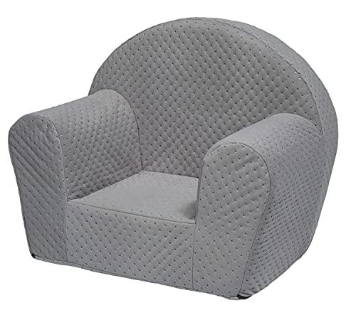 Velinda Kids chair, soft, foam, armchair, toodler, nursery, baby (colour: grey)