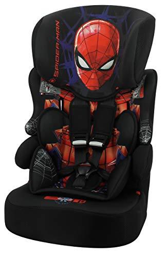 Seggiolino auto NANIA Beline - Gruppo 1/2/3 - (9-36 Kg) - produzione francese 100{043a093f05dfe23f9cb0a89470db3c29c23bf9410b56816f788b8dc907ac4105} - protezioni laterali - Marvel Spiderman