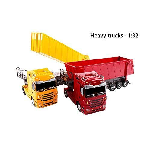RC Auto kaufen LKW Bild 5: Etanby 1:32 RC Ferngesteuertes Bau LKW Fahrzeug Container Transporter Modell, 2,4 GHz 6-Kanal Ferngesteuertes Baustellenfahrzeug, Baustellenfahrzeug Mit Fernbedienung,Geeignet für Kinder über 6 Jahre*