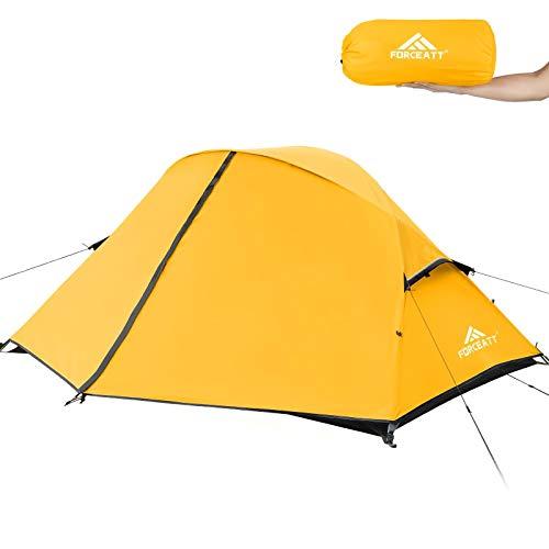 Forceatt Tenda Campeggio, Tenda per 2 Persone, Tenda Ultraleggera per 3-4 Stagioni, Impermeabile e Antivento, Facile da Installare, Adatta a Sport all'Aria Aperta Come Turismo, Campeggio, Trekking