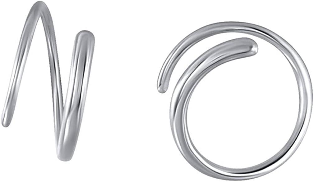 YAZILIND Personality Ear Buckle Hoop Earrings Women Girls Ear Jewelry