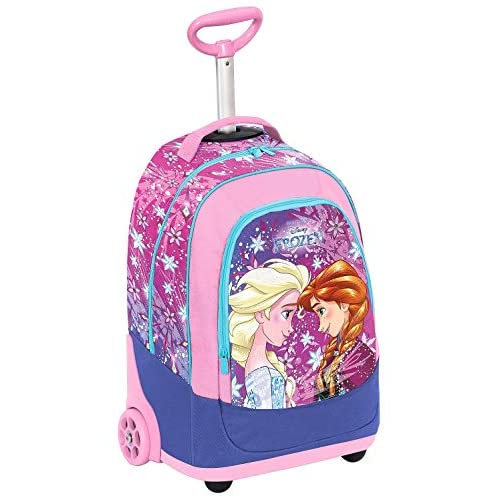 Big Trolley Disney Frozen Ice Magic, 30 Lt, Rosa, 2in1 Zaino con Spallacci a Scomparsa, Scuola & Viaggio