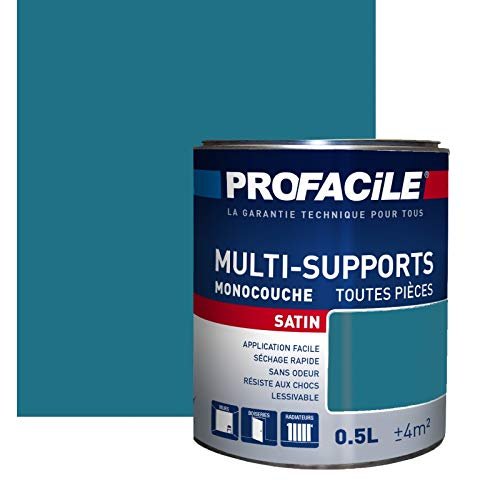 Peinture multi-support intérieur couleurs, PROFACILE 0.5 litre Bleu paon