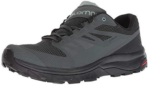 Salomon Men's Outline GTX Hiking Shoes, Urban Chic/Black/Green Milieu, 10.5