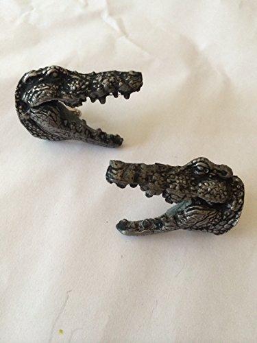 Alligator de boutons de manchette en crocodile tête 3D effet étain Boutons de manchette