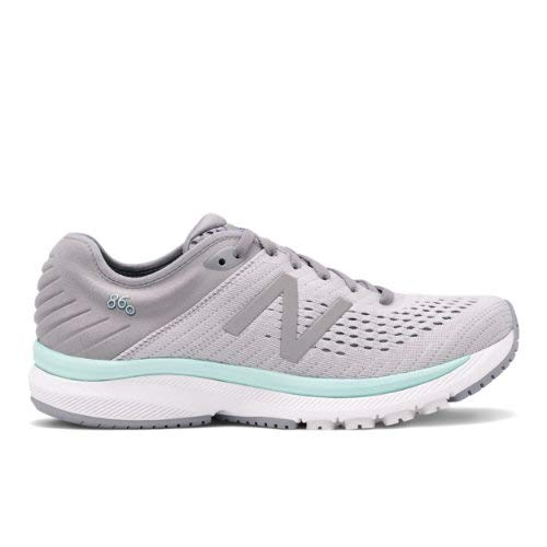 New Balance Womens' 860v10 Running Shoes (Steel with Light Aluminum & Light Reef, Numeric_8)