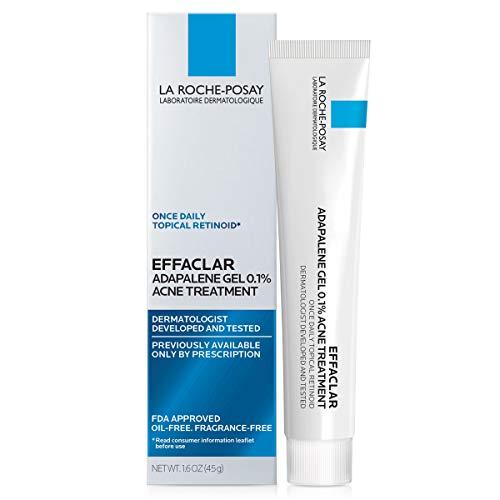 La Roche-Posay Effaclar Adapalene Gel 0.1% Acne Treatment, Prescription-Strength Topical Retinoid For Face, 45g (0.1% Cream)