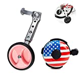 Ciao! Sports & Outdoors Adjustable Variable Speed Bicycle Training Wheels for Girls Boys 16 18 20 22 24 Inch. A Perfect stabilizer Accessories Package for Kid (Metal)