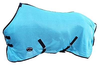 "Challenger Horsewear 80"" Horse Fly Sheet Summer Spring Airflow Mesh UV Turquoise 7301"