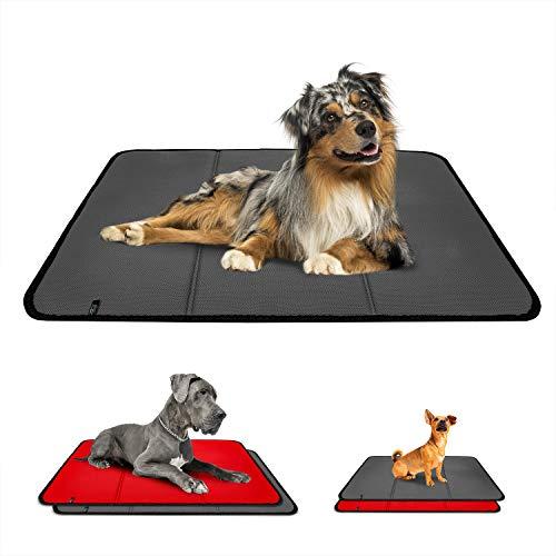 Effaband – Hundedecke Made in Germany/rutschfeste & waschbare Hundematte mit Einer Liegefläche aus einem 3D Abstandsgewirke (3D Air Mesh) zur optimalen Luftzirkulation (80x100cm) - Grau