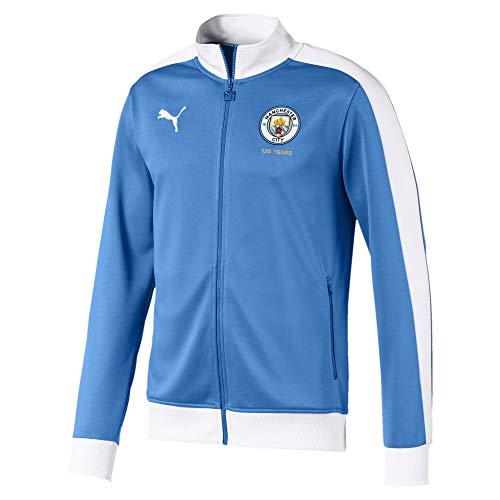 PUMA Herren MCFC T7 Track Jacket Trainingsjacke, Marina White, M