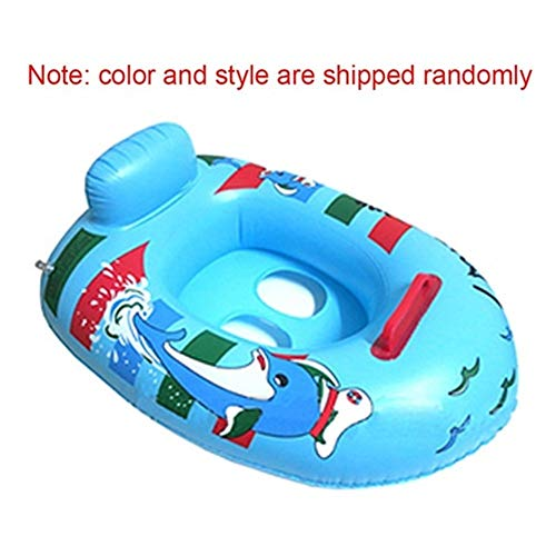 PCF Cartoon Boat-shaped Swimming Ring Baby Inflatable Ring Floating Bed Accessories Children's Inflatable Mattress Water Sports (Color : Random delivery)