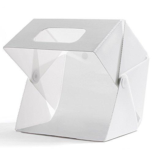 Mini Portable Lichtzelt Faltbare Fotozelt Fotostudio Set Fotografie Studio Light Box Kit Foto Studio Schießen Zelt mit LED Leuchte (40cm x 40cm)