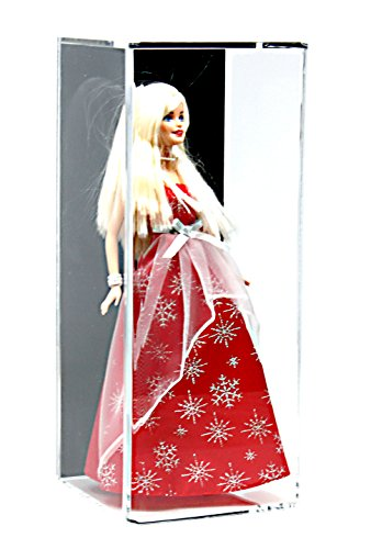 Better Display Cases Acrylic Figurine Display Case for Doll, Bobblehead, Action Figure, or Collectible Toy Figure with Black Back and Wall Mount (A017-BB-WM)